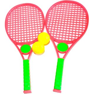 Nawani Hotshot Tennis Racket Set with Soft Plastic Ball for Kids 3 to 6 Years . Size - 39/16 cm