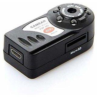 Mini Portable P2P WiFi IP Camera Indoor/Outdoor Hd Dv Hidden Spy Camera Video Recorder Security, Remote View with 8GB Me