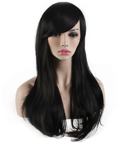 Sellers Destination  Womens Heat Resistant 28-Inch Long Curly Synthetic Hair Wig,(size 28, Black)