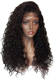 Sellers Destination  Long Layered Curly Synthetic Hair Wig for Women with Heat Resistant Fiber(size 28,Black)