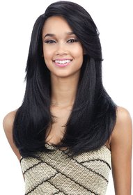 Sellers Destination  Womens Heat Resistant Synthetic Long straight Hair Wig,(size 22, Black)