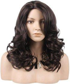 Sellers Destination Synthetic Fiber Medium Straight Hair Wig for Women(Black,Size-14)