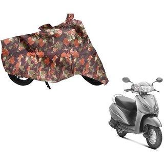 Anlope Foji print (1X1) Bike Body Cover For. Universal.Activa