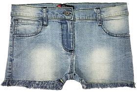 Girls denim shorts medium washed with pp spray