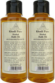 Khadi Pure Herbal Bath Oil - 210ml (Set of 2)