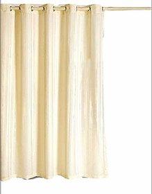 CASA-NEST PVC Self Stripes Plain Shower Curtain 52X82 Inches - 8 Hooks, 1 Piece