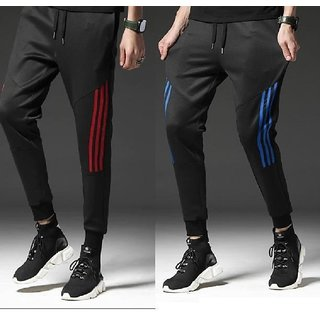 Pack of 2 Polyester trackpants - Red & Blue by Trendyz