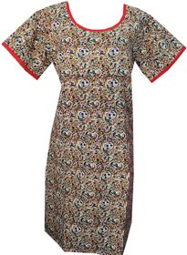 K T COLLECTION COTTON MATERNITY FEEDING KURTI WITH HORIZONTAL ZIPPERS KTMTRN90