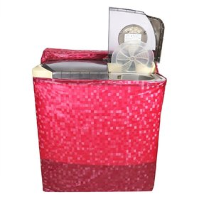 CASA-NEST Square Design PVC Semi Automatic Washing Machine Cover - Pink