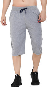 Muffy Men's Grey Poly-Cotton Capri