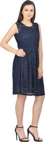 Selfys Women Nylon Knee length Casual Dress(X-Small)