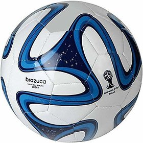 S.S. SPORTS Blue  White Brazuca Football (Size - 5)