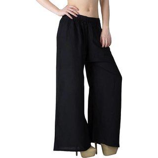 Women  free  size Black Colour Palazzo pant or trousers
