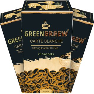 Greenbrrew Carte Blanche Green Coffee Extract (Pack of 3) - 60g Each