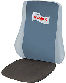 Xamax Executive Plus Grey Backrest,Lumbar Support Pillow/Back Cushion,Orthopedic Back rest for Car,Office,Computer Chair