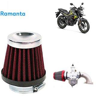 RamantaHigh Performance Cotton Type Bike Motorcycle Air Filter for Honda (Multicolor)