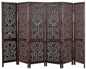 Shilpi Handmade Room Divider Wooden Partition in Kashmiri Design Decor Privacy Screen Panel