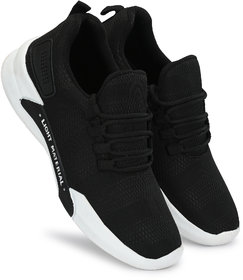 Lavista Men's Black Casual Sports Running-Walking-Training  Gym And Ultra Light Running Off White Shoes