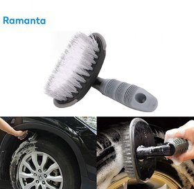 Ramanta Bike Tyre Rim Cleaner Brush for Universal All Bikes, (Assorted Color - Pack of 1)