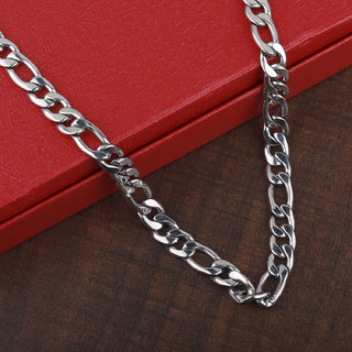 SILVERSHINE SilverPlated Adorable Figaro Chain For Men and boy Jewellery