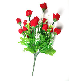 ALRAZA Red Rose Artificial Flowers for Decoration  13 inch Pack of 1