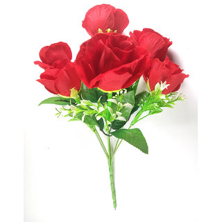 ALRAZA Red Rose Artificial Flowers for Decoration  14 inch Pack of 1