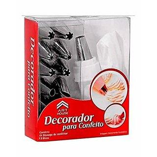 kudos Cake Icing Decorator Bag with 12pc nozzles set