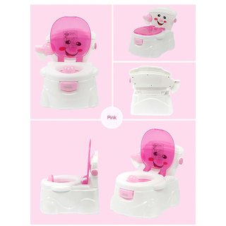 REGAL All New High Quality Smiley Baby Potty Seat/Chair/Stool for Babies 1 Pc (Girl)