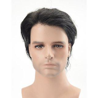 Sellers Destination  Hair Replacement for Men Human Hair Skin Mens Toupee (Black,810).