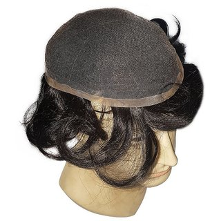 Sellers Destination 100  Natural Human Hair Black (Full Lace Toupee, 9X7).