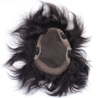 BUYERS CHAIN  Hair Toupee  Hair Patch  Human Hair Patch For Men And Boys (8x6, Black)