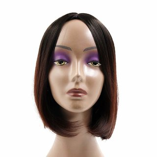 BUYERS CHAIN  Short Straight Human Hair for Women(size 14,Brown)