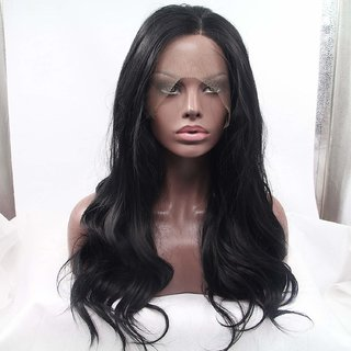 BUYERS CHAIN  Lace Front Wig Synthetic Black Wigs Heat Resistant Hair For Women(size 26)