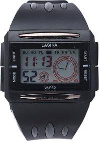 Lasika W-F62 Black-Grey Combination Multifunction Sports Watch - SW008