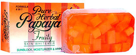 Pure Herbal Papaya Fruity 4 IN 1 Skin Whitening Soap / Skin Fairness Soap 135g