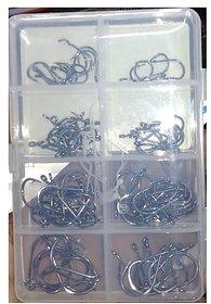 Fishing Hooks Set with Box High Carbon Lure Hooks