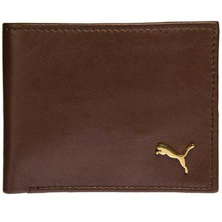 Men Casual Brown Genuine Leather Wallet  4 Card Slots