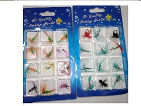 Quility Fly Hooks Set Fishing Trout Salmon Dry Flies Fish Hook Lures 1 box