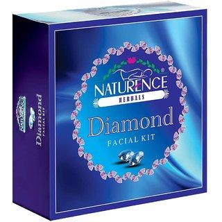 Naturence herbal diamond facial kit 220gm with silver facial kit 80gm combo
