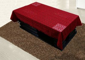 CASA-NEST Cotton Center Table Cover 4 Seater - Maroon