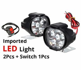 Eshopglee 2 Led Fog Lamps With 1 Switch - Pack Of 3