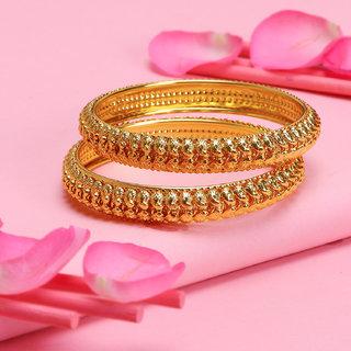 Sukkhi Equisite Gold Palted Bangle Set For Women (Set of 2)