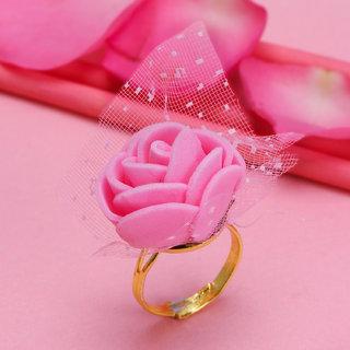 Sukkhi Lovely Gold Plated Rose Ring For Women