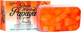 Pure Papaya Herbal Fruit Soap Skin Fairness Soap (135Gram)