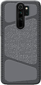 Cellmate Stylish Texture Pattern Protective Tpu Soft Mobile Back Case Cover For Redmi Note 8 Pro - Black
