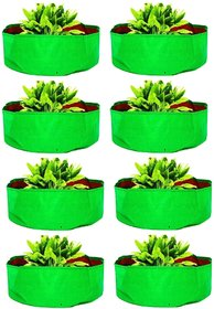Terrace Gardening Hdpe Grow Bags For Vegetable Plants, Spinach Keerai, Palak Plant (15X9 Inches)- Pack Of 8