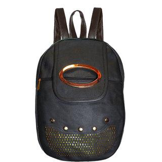 Black Backpack For Girls 10 L Backpack (Black)