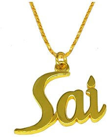 Men Style Religious Jewellery Sai Gold Stainless Steel Pendant Necklace