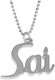 Men Style Religious Jewellery Sai Locket With Chain Silver Stainless Steel Pendant Necklace