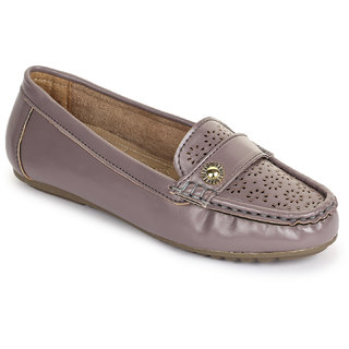 Picktoes Women Stylish Casualwear Slip On Purple Loafer & Moccassin